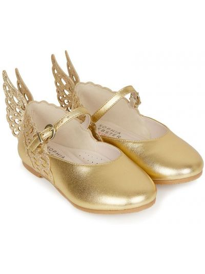 Złote balerinki Sophia Webster Mini