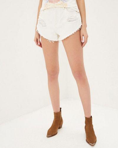 Джинсовые шорты белые Glamorous