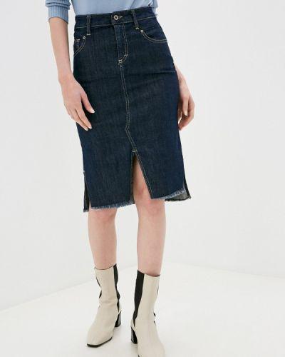 Синяя джинсовая юбка Please