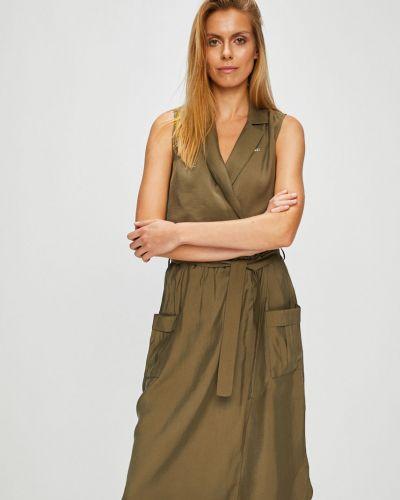 Платье мини с запахом с вышивкой U.s. Polo