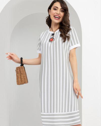 Повседневное белое платье в полоску Charutti