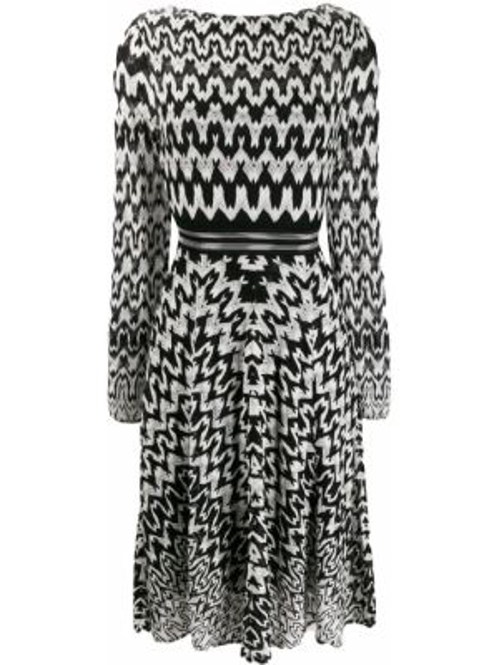Платье приталенное с рукавами Missoni
