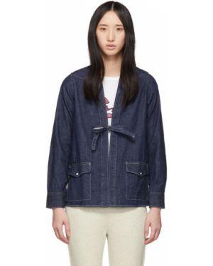 Серебряная джинсовая куртка с манжетами на пуговицах Visvim