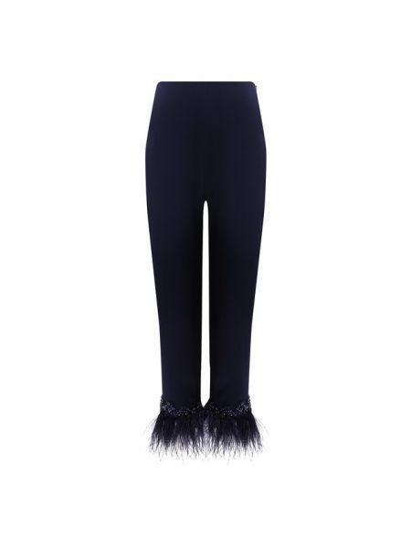 Укороченные брюки с поясом с манжетами с декоративной отделкой с высокой посадкой Jenny Packham