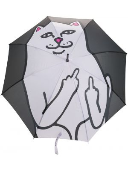 Czarny parasol z printem Ripndip
