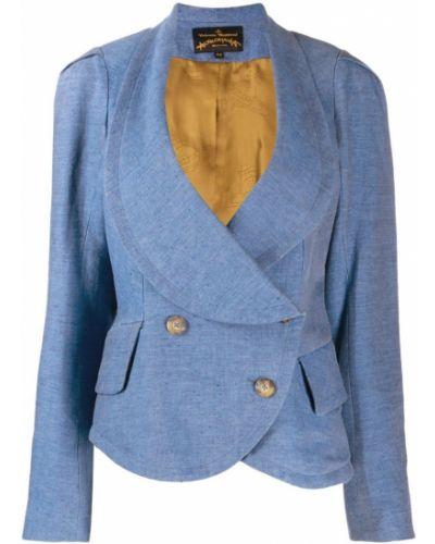 Синяя длинная куртка Vivienne Westwood Pre-owned