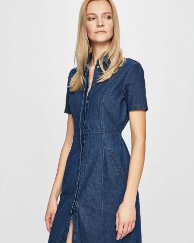 Джинсовое платье мини расклешенное Noisy May