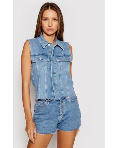 Niebieska kamizelka jeansowa Calvin Klein Jeans