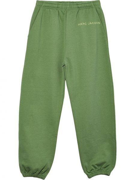 Хлопковые спортивные брюки - зеленые Marc Jacobs