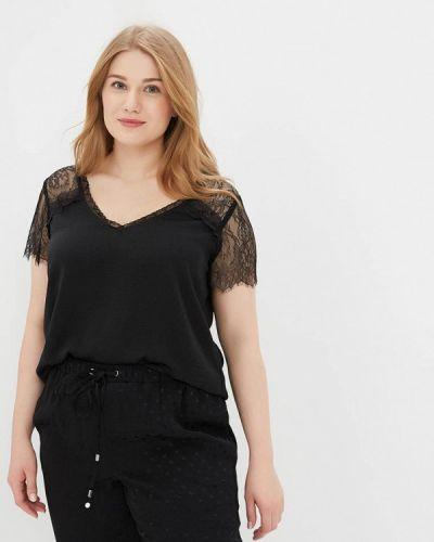 Черная кружевная блузка Violeta By Mango