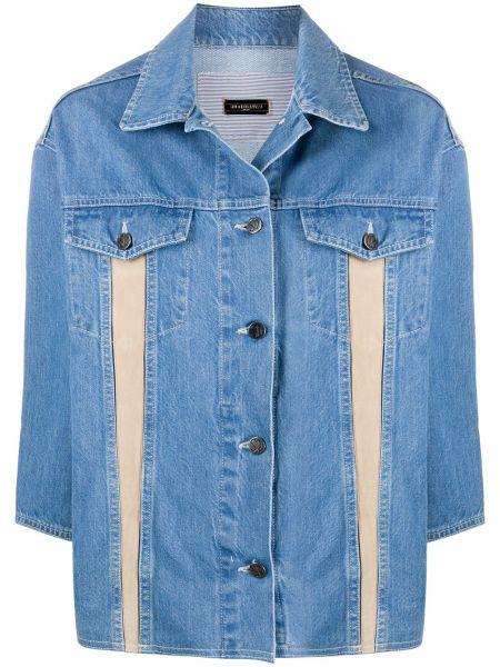 Хлопковая синяя джинсовая куртка с воротником Simonetta Ravizza