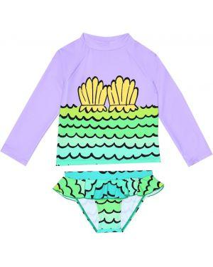 Strój kąpielowy z nadrukiem plaża Stella Mccartney Kids