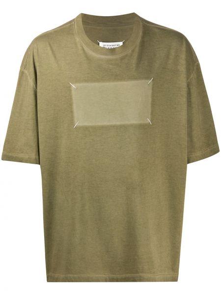 Koszula krótkie z krótkim rękawem z logo prosto Maison Margiela