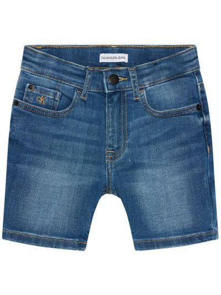 Szorty jeansowe granatowe Calvin Klein Jeans