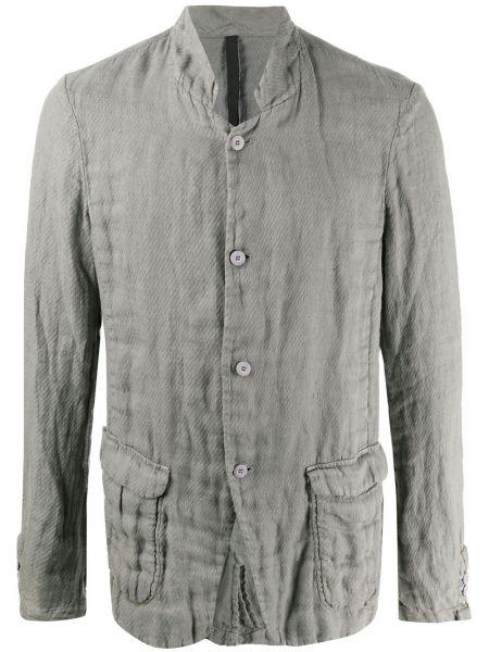 Серый пиджак на пуговицах с манжетами с вырезом Poème Bohémien