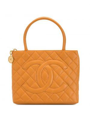 Żółty złoty torba na ramię z diamentem Chanel Pre-owned