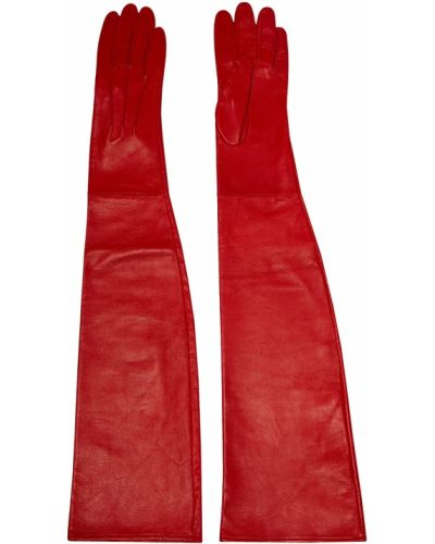 Красные кожаные перчатки Chapurin