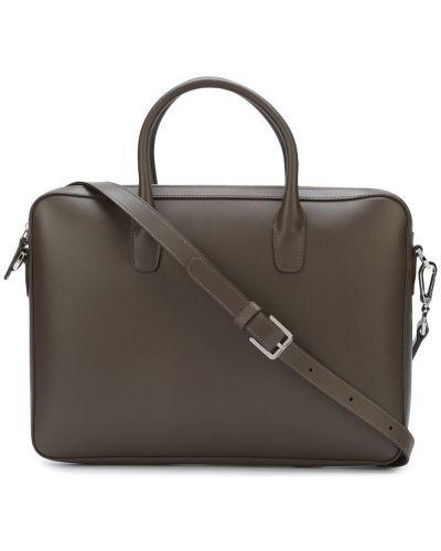 Портфель кожаный коричневый Mansur Gavriel