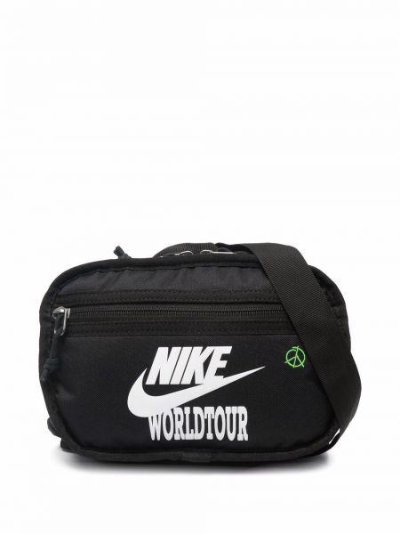 Czarny pasek z paskiem Nike