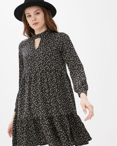 Прямое черное платье Imocean