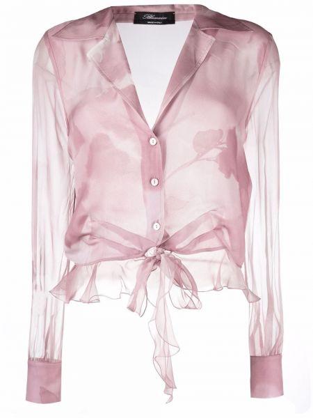 Розовая блузка на пуговицах Blumarine