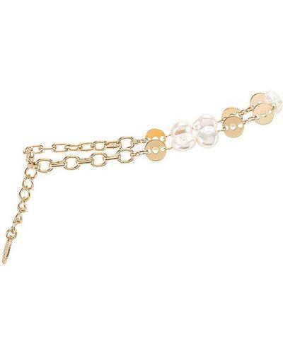 Złoty łańcuszek perły miejski Ettika