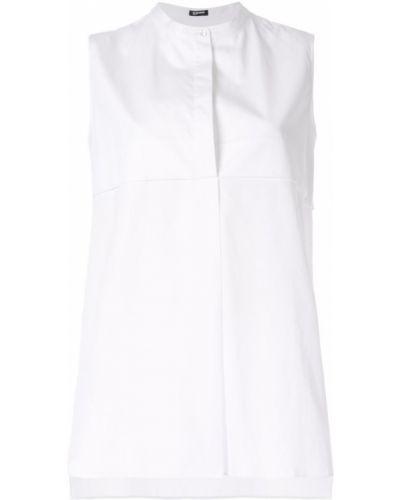 Рубашка белая без рукавов Jil Sander Navy