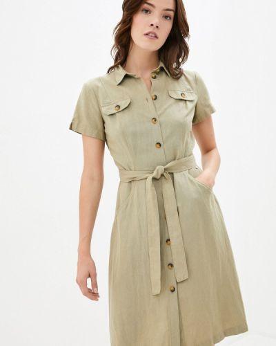 Расклешенное свободное зеленое платье Finn Flare