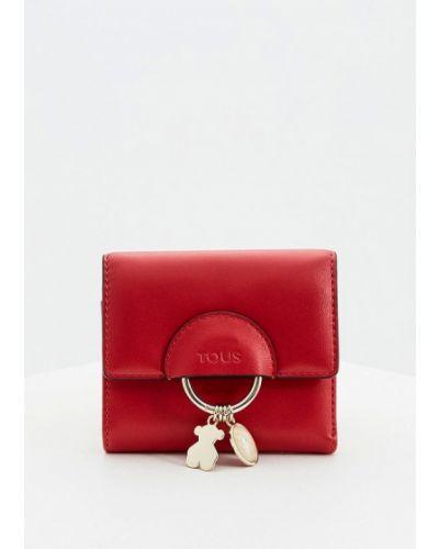 Кожаный кошелек - красный Tous