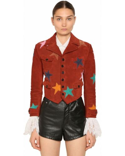 Пиджак замшевый на пуговицах Saint Laurent