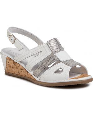 Białe sandały Comfortabel