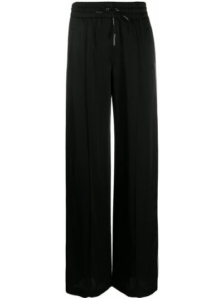 Czarny prosto z wysokim stanem szerokie spodnie na sznurowadłach Off-white