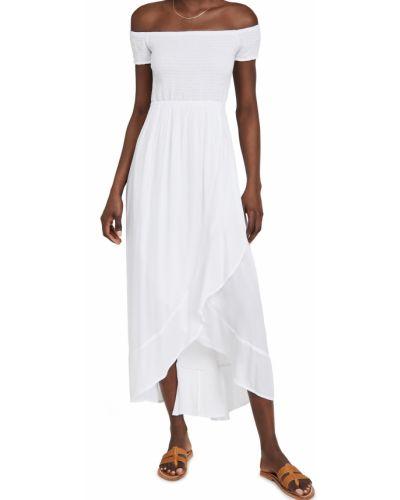 Белое платье с короткими рукавами с декольте Tiare Hawaii