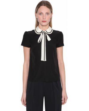 Рубашка с коротким рукавом в полоску без воротника Red Valentino