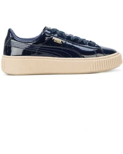 Синие кроссовки на платформе Puma