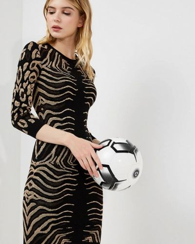 Черное платье с длинными рукавами Just Cavalli