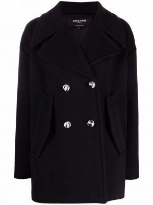 Шерстяное пальто - черное Rochas