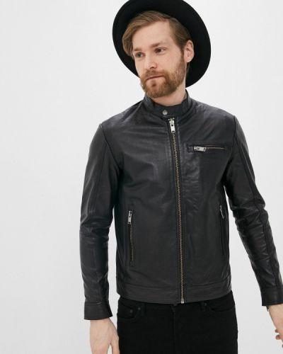 Кожаная куртка - черная Selected Homme