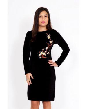 Платье велюровое черное инсантрик