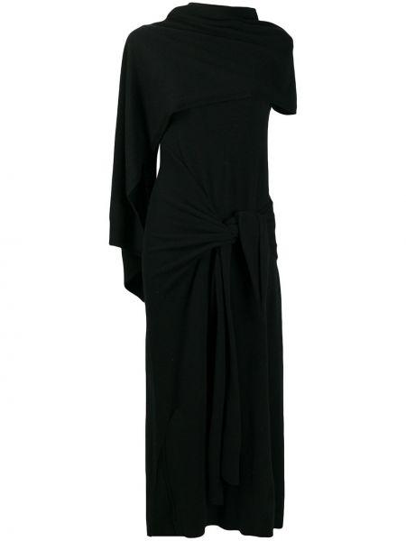 Вязаное платье с запахом с воротником из альпаки Christian Wijnants