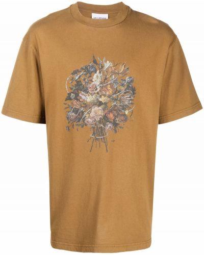 Brązowa t-shirt z printem Han Kjobenhavn