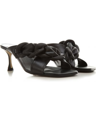 Czarne sandały skorzane No. 21