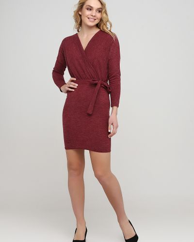 Теплое платье - бордовое No Brand