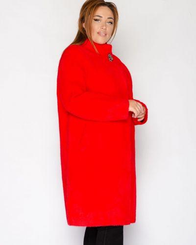 Пальто из альпаки - красное Rozetka