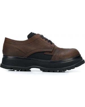 Черные туфли на шнуровке Artselab