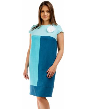 Летнее платье футляр бирюзовый Liza Fashion