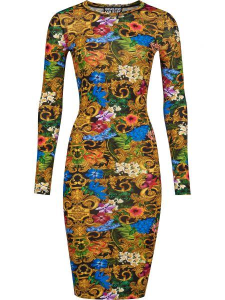 Платье из вискозы Versace Jeans Couture