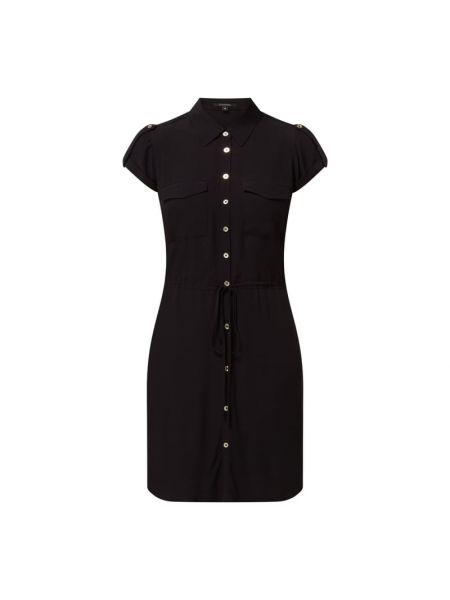 Czarna sukienka z wiskozy Comma