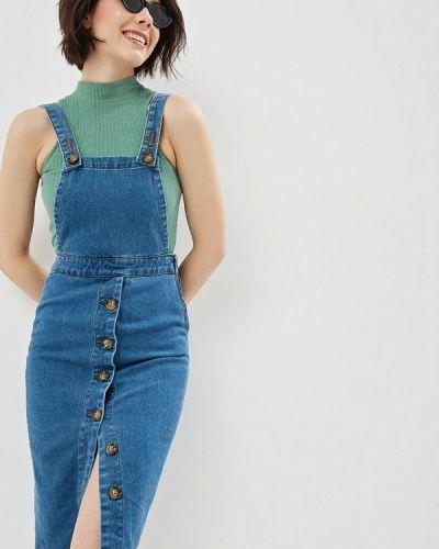 Джинсовое платье - синее Pink Woman