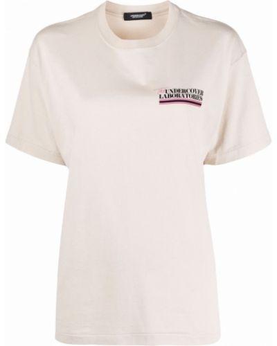 Прямая хлопковая футболка с надписью Undercover